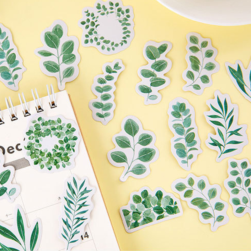 20packs/lot New Green Garden Morning Sticker Stationery Sticker Cute Diary Decoration Stickers  Supplies Wholesale