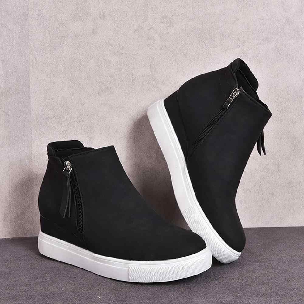 Zapatillas de Mujer de alta calidad nuevas cuñas transpirables cómodos zapatos vulcanizables zapatos casuales de Mujer Zapatillas Deportivas Mujer