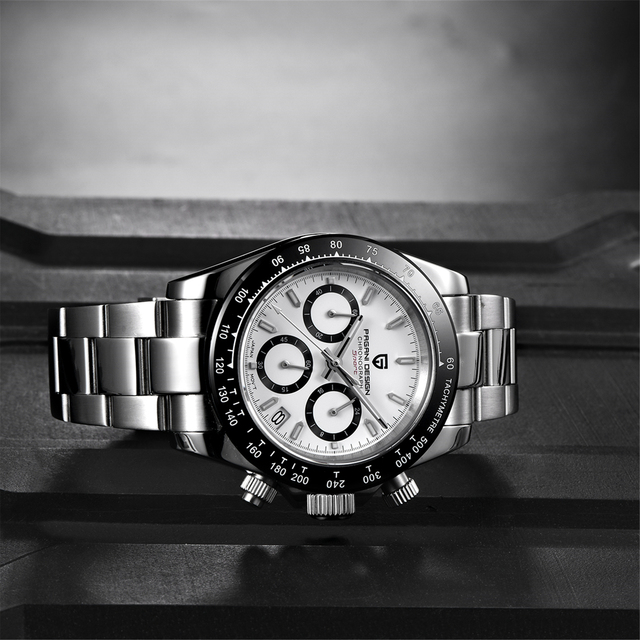 2021 New PAGANI Design Top Brand Men's Sports Quartz Watches Sapphire Stainless Steel Waterproof Chronograph Luxury Reloj Hombre 5