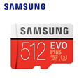 Карта памяти MicroSD SAMSUNG  512 ГБ  256 ГБ  64 ГБ  32 ГБ  classe 10 TF Trans Flash Mikro memoria micro sd evo plus 128 ГБ
