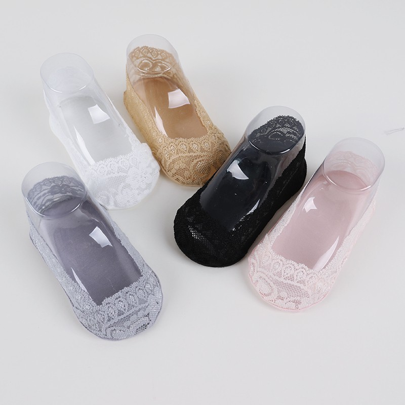 Baby Girls Lace Socks Summer Infant Toddler Solid Breathable Invisible Lace Soft Non-slip Sock Calcetines
