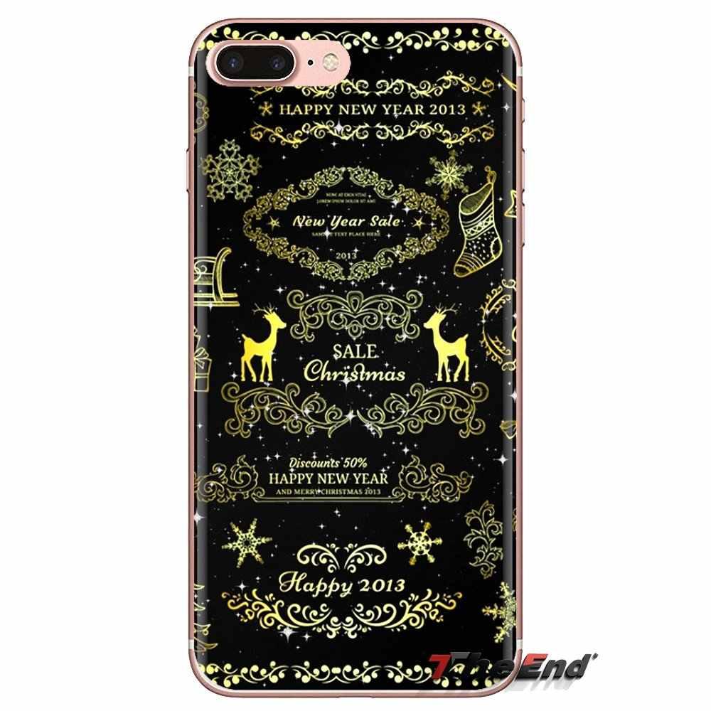 Feliz Natal Elk Cervos Animal selvagem Pele de Silicone Telefone Caso Para Huawei Companheiro Honra 4C 5C 5X6X7 7A 7C 8 9 10 8C 8X20 Lite Pro