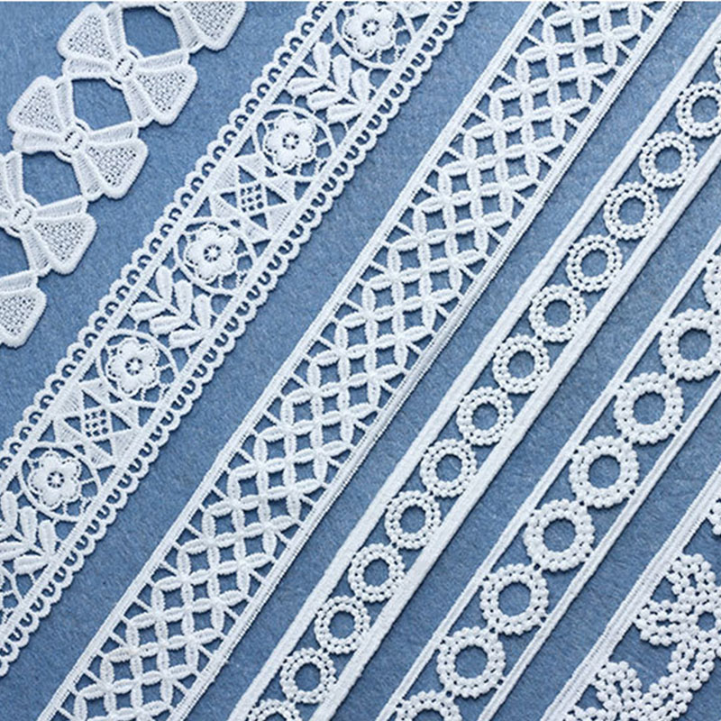 7 Yards Unique Nigerian Lace Fabric Webbing Decoration Lovely Gift Packing Material Sewing Decoration Latest 2020 Lace Trims