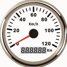 Универсальный датчик спидометра с GPS, 85 мм, 120 км/ч, 200 км/ч, для автомобилей, грузовиков, лодок, авто с красной подсветкой, 12 В, 24 В, С GPS-антенной