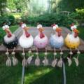 Art Decor Chicken Lawn Plug Hen Rooster Garden Decoration Outdoor Accessories Garden Ornaments Home Decor Indoor Art Statues