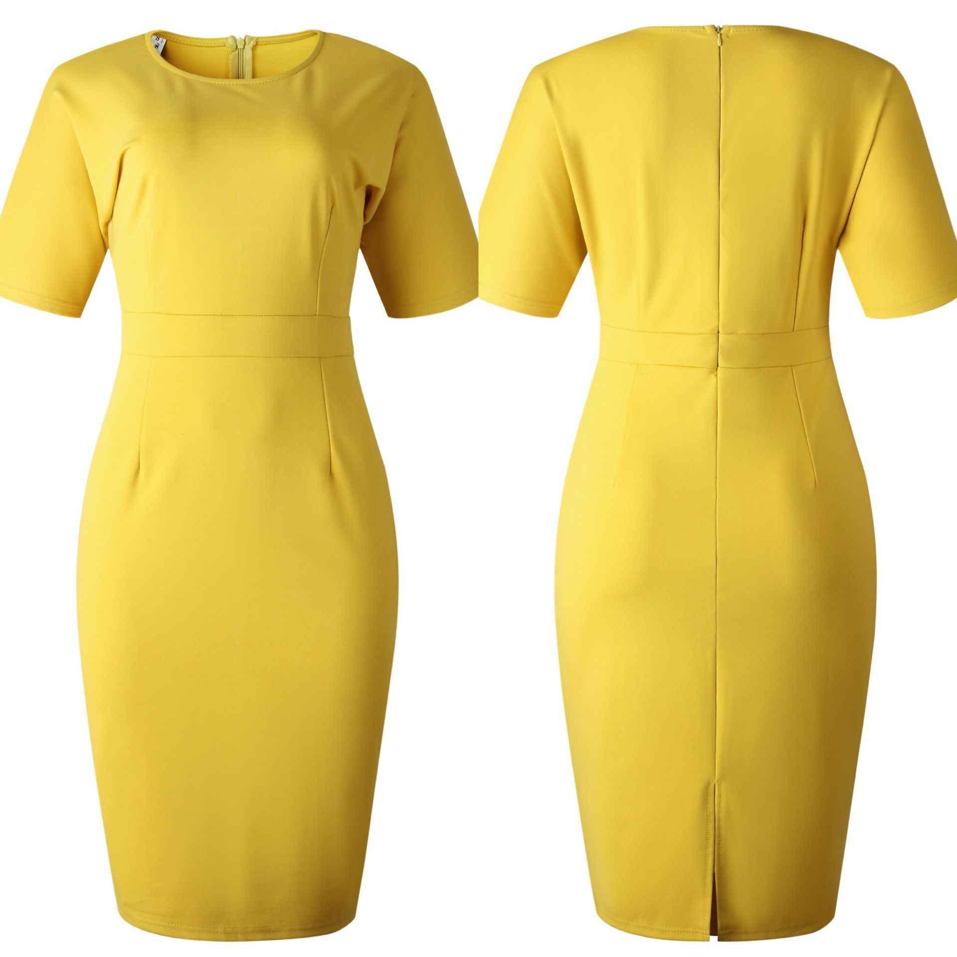 Vestido De tubo africano para mujer, elegante vestido De oficina a la moda para mujer, Vestidos Midi De verano para Ropa De talla grande, Vestidos De fiesta