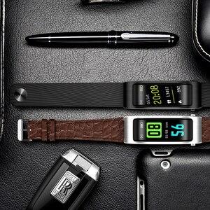 Image 5 - B5s Bluetooth earphone wireless earbud smart headset watch with microphone Smart Bracelet Waterproof touch screen music play