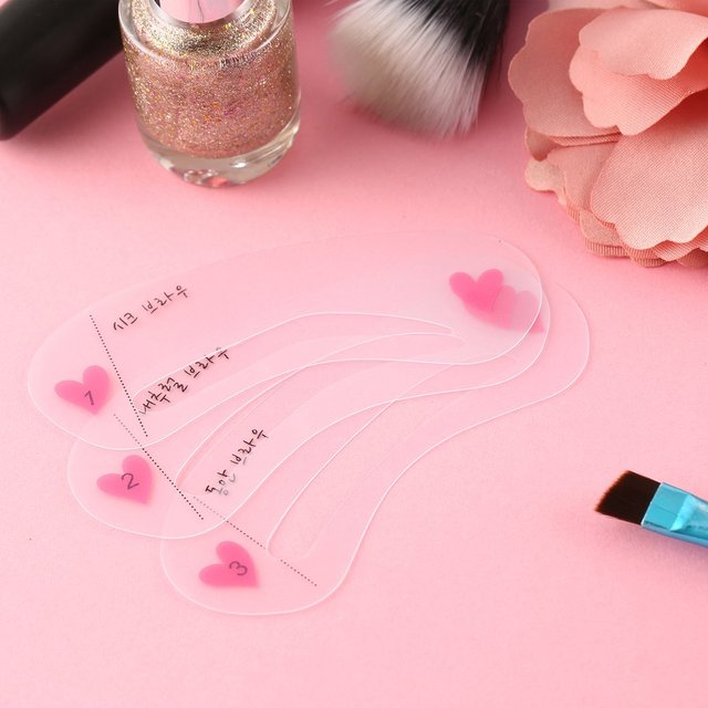 Reusable 3pcs Grooming Shaping Assistant Sealed Template 3 styles Eyebrow stencils Drawing Card Brow Make-Up Beauty New 3