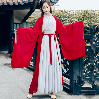 Traditional Chinese Hanfu Costumes Female Classical Ancient Performance Dance Clothes Tang Dynasty Fairy Princess Dresses DL4141