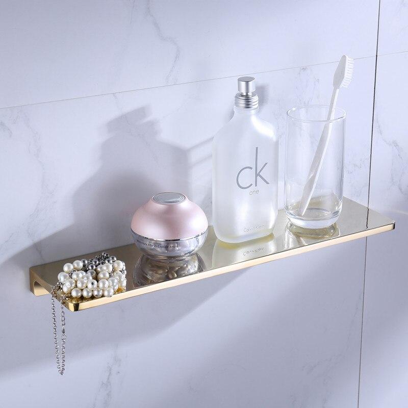 bathroom shower shelves shampoo holder sqaure Bathroom solid brass gold Accessories bath hardware - 3