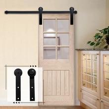 انزلاق الحظيرة مجموعة أدوات الباب العلوي شنت شماعات المسار الأسود الصلب خزانة الأسطوانة السكك الحديدية للأبواب واحدة