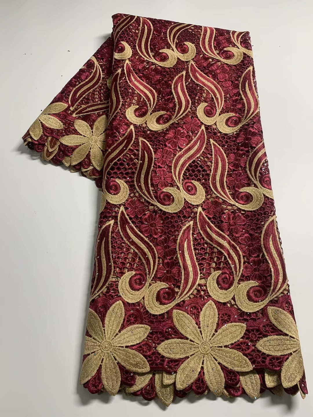 TG29  High quality  Nice embroidery  guipure lace fabric,African Dresses for birthday celebrations