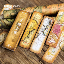 30pcs/box Retro Nautical Chart Paper Bookmarks Message Cards Bookmark for Books Gift Book Markers Stationery