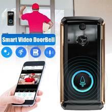 16 ° широкоугольный HD 1080P видео WiFi дверной звонок для домашней безопасности беспроводной настенный висячий дверной Звонок камера ночного видения для наружного использования в помещении