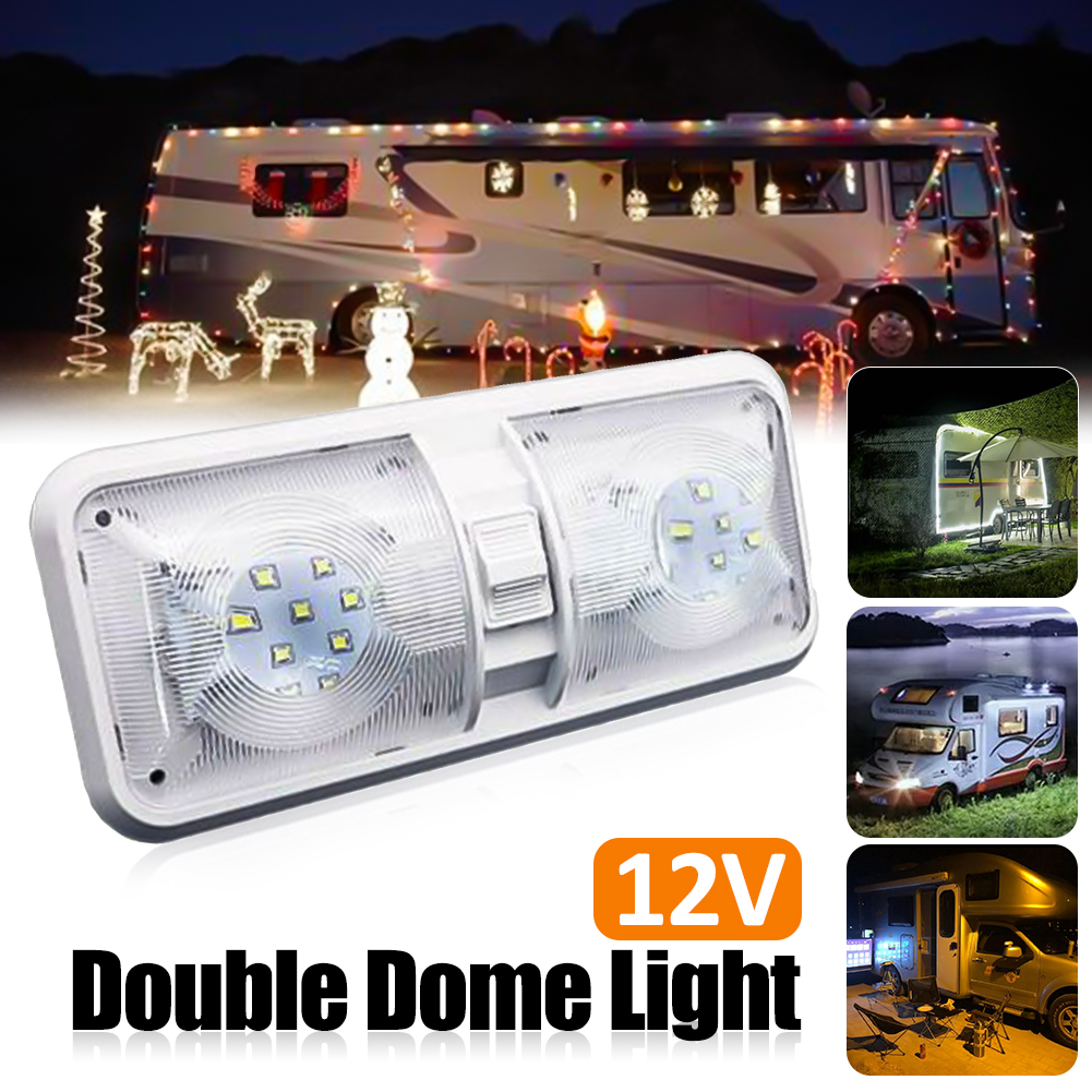 2PCS Interior LED Porch Ceiling Light 42 SMD Motorhome Caravan Camper Van Boat