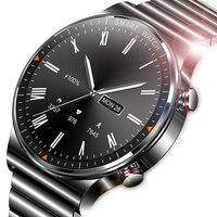 Bluetooth llamada inteligente reloj de los hombres 454*454 HD pantalla de 1,39 pulgadas IP68 impermeable reproductor de música enlace auriculares Bluetooth Smartwatch hombres