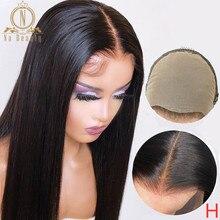Falso peruca do couro cabeludo 13x4 frente do laço peruca humana invisível descorado nós preplucked em linha reta cabelo humano peruca do laço hd remy nabeauty 150%