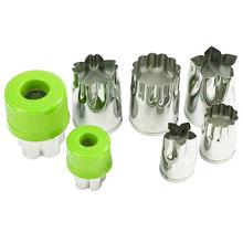 Stainless Steel Vegetable Cutter Shapes Set 8pcs Vegetable Fruit Cookie Cutter Mold Cute for Fun Food