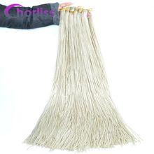 Chorliss вязанные крючком косички Zizi косички, вязанные крючком волосы, пряди, синтетические волосы для наращивания, косички, блонд, черный, серый, красный, коричневый