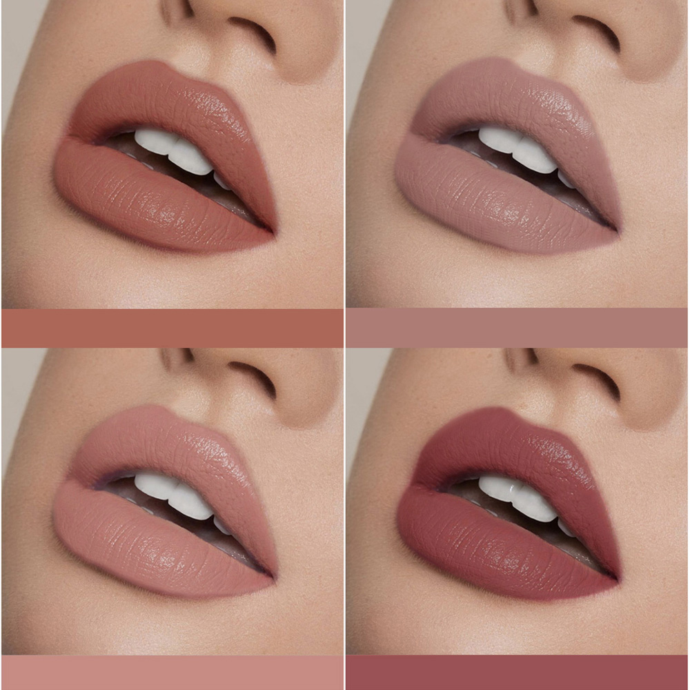 Nude Matte Lip Gloss Makeup Waterproof Velvet Liquid Lipstick Lips Cosmetics Long-lasting Lip Stick Cream Make Up Tint Lipgloss