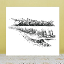 AZSG Beautiful creek Clear Stamps For DIY Scrapbooking/Card Making/Album Decorative Rubber Stamp Crafts azsg creek in the forest clear stamps for diy scrapbooking card making album decorative rubber stamp crafts