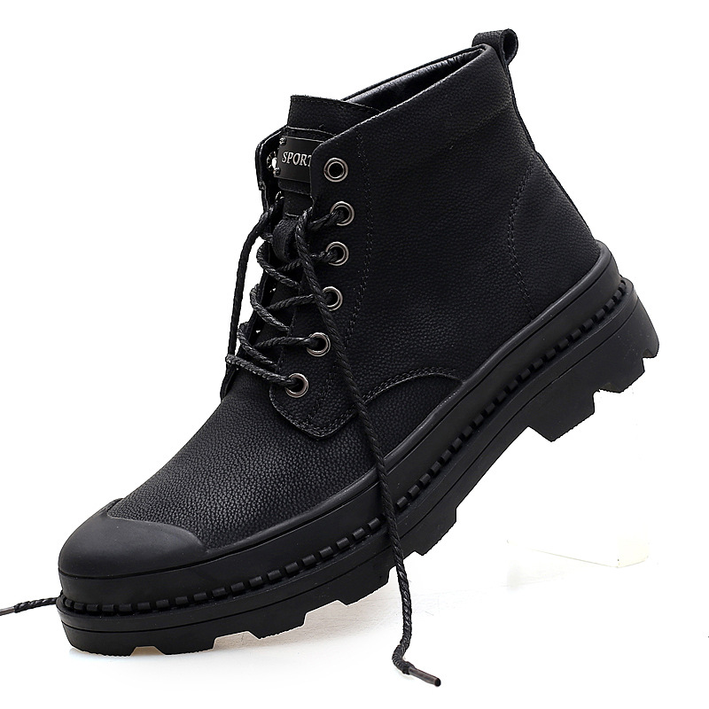 2019 Winter Shoes Men Boots Genuine Leather Martin Boots For Men Shoes Plush Warm Military Boots Male Shoes Adult Boots Men 39 S