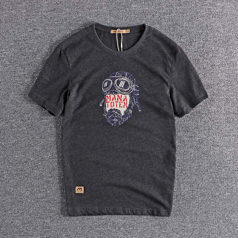 2020 Summer Printed Pattern Summer Versatile Fashion European And American Men's Round Neck Short Sleeve T-shirt High Quality T