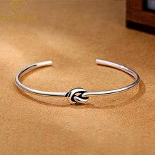 XIYANIKE – bracelet Vintage en argent Sterling 925 pour femme, ajustable, à la mode, bijou de mariage