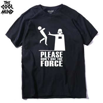 COOLMIND ST0113A 100% cotton funny printed casual men t shirt cool darth vader men's tee shirts tops T-shirt - discount item  30% OFF Tops & Tees