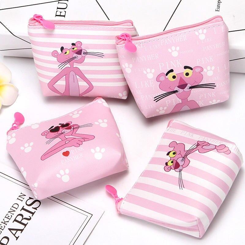 Новый мультфильм Розовая пантера студенческий кошелек, Дети PU кошелек на молнии для смены женщин и мужчин мини-кошелек для ключей сумка для ...