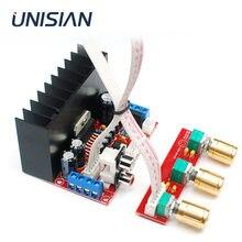 UNISIAN TDA7377 2.1ch усилитель мощности платы Hi-Fi бас ВЧ 3 канала Усилители звука для Динамик домашней аудиосистемы