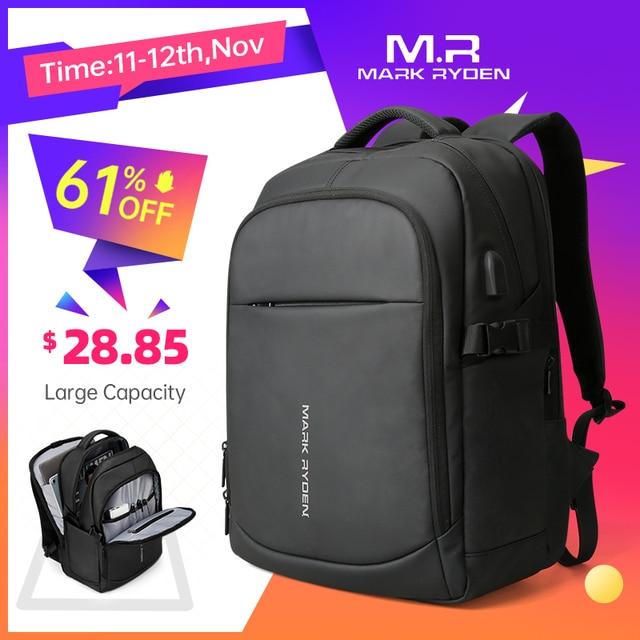 Mark Ryden 2020 Man Backpack Multifunctional Waterproof 15.6inch Laptop Multi layer Pockets Bag Man USB Charging School Backpack
