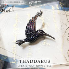 Pendant Colourful Hummingbird,2020 Brand New Cute Fashion Jewelry Europe Bijoux 925 Sterling Silver Lightness Gift For Woman