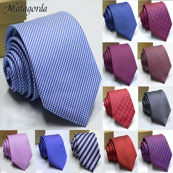 Fashionable Silk Tie Mens Neck 8cm Colorful Striped Formal Necktie Business Party Gravatas Men Accessories Neckcloth