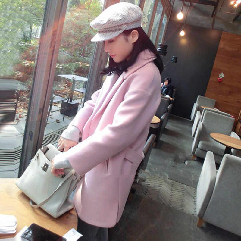 Płaszcz wełniana damska zimowa kurtka długi wełniany płaszcz jesień elegancka damska odzież kurtka wiosenna Casaco Feminino LWL689