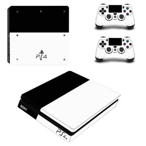 Image 3 - White Days of Play Full Cover Faceplates PS4 Slim Skin Sticker Decal Vinyl for Playstation 4 Console & Controller PS4 Slim Skin