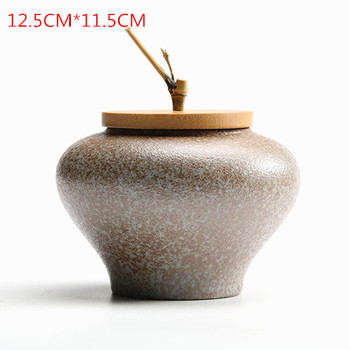 JIA-GUI LUO Ceramic tea box dried fruit storage tank sealed bottle tea accessories home sealed cans receive gifts D063 10