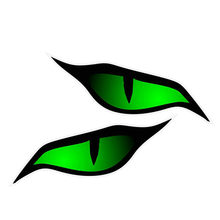 2 X Personality Car Sticker Pair Of Evil Eye Eyes Design In Green For Automobile Motorbike Helmet 3D Vinyl,13cm*6cm(China)