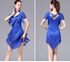 Image 5 - Женское платье с кисточками для латинских танцев, модное платье для латинских танцев для женщин, женское международное стандартное бальное платье для танцев ча Сальса