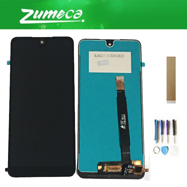 Color : Black Premium Quality Black LCD Screen and Digitizer Full Assembly for BQ BQ-6015L Universe