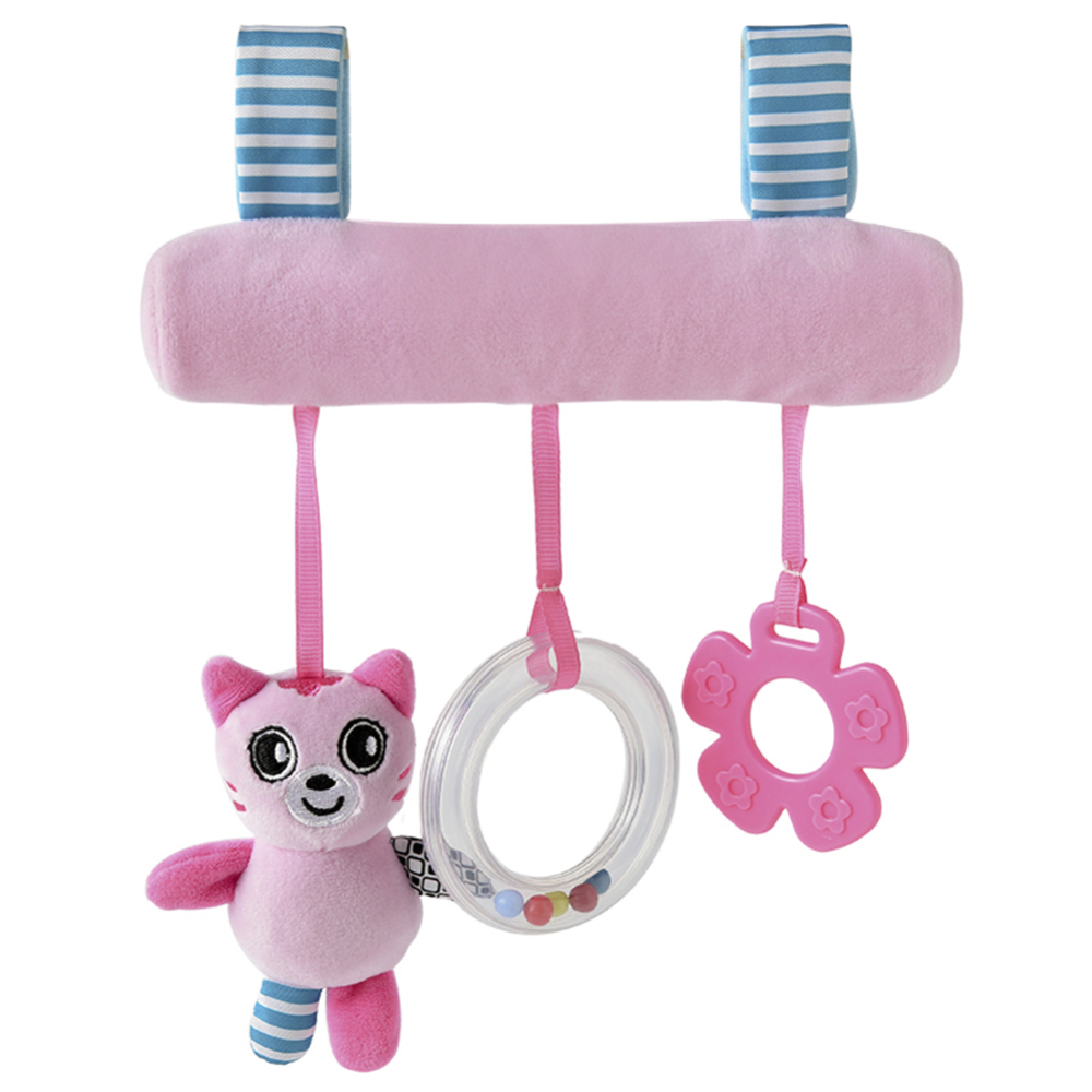 Baby Stroller Cartoon Animal Pendant Baby Cradle Ornament Bell Bed Hanging Rattle Bell