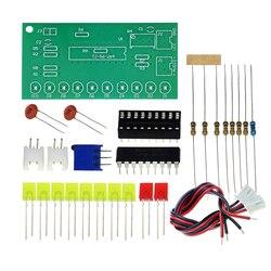 Lm3915 dc 9v-12v 10 led analisador de espectro de áudio de som nível indicador kit diy electoronics conjunto de prática de solda laboratório