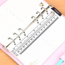 2016 New Straight books Ruler Loose-leaf Today Rulers Frosted Transparent Mint Cute Kawaii White Polka Dot free shipping