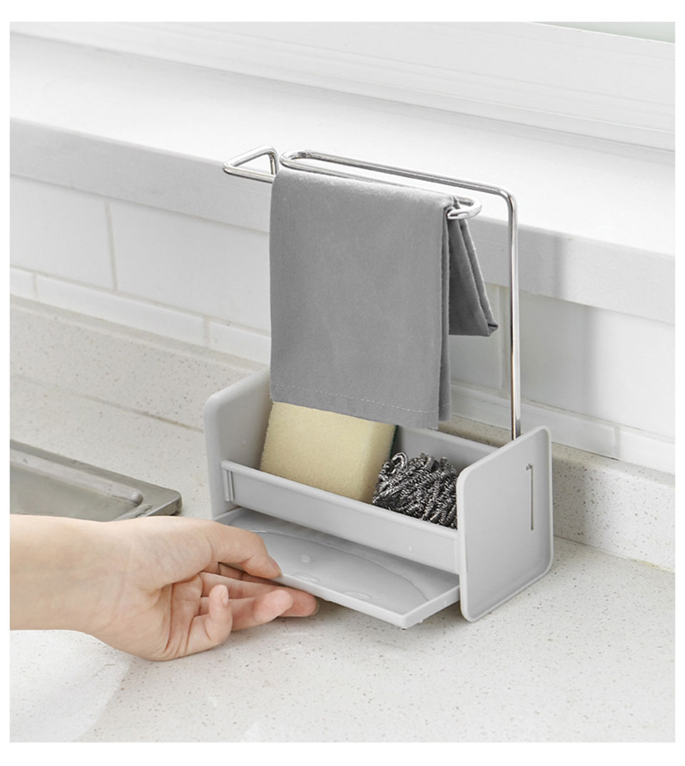 Kitchen Sink Sponge Holder Draining Rack Sink Kitchen Floor-standing Drain Storage Tools Storage Shelf Sink Holder Drain Racks