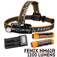 fenix HM61R Max 1200lm headlamp USB charging 3500mah battery flashlight and a chest lamp
