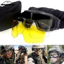 Тактические очки usmc для страйкбола армейские солнцезащитные