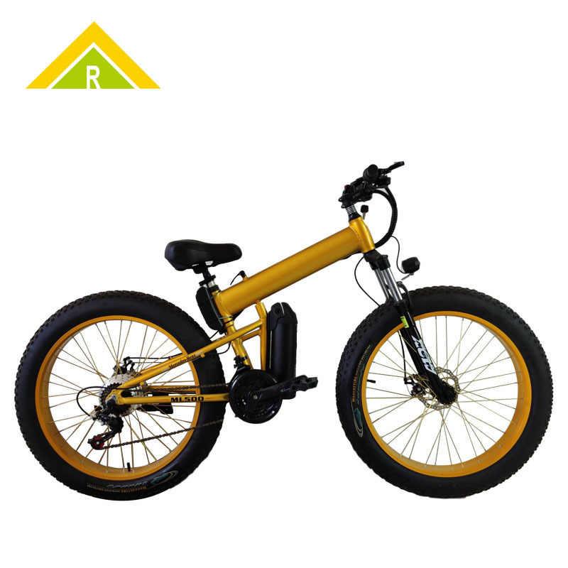 Bicicleta de Montaña para la nieve de 26 pulgadas, plegable, de aleación de aluminio y con ruedas anchas para bicicleta Fetal