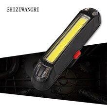 цена на SHIZIWANGRI Rechargeable LED USB Mountain Bike Tail Light Taillight Safety Warning Bicycle Rear Light Night riding Tail-lamp