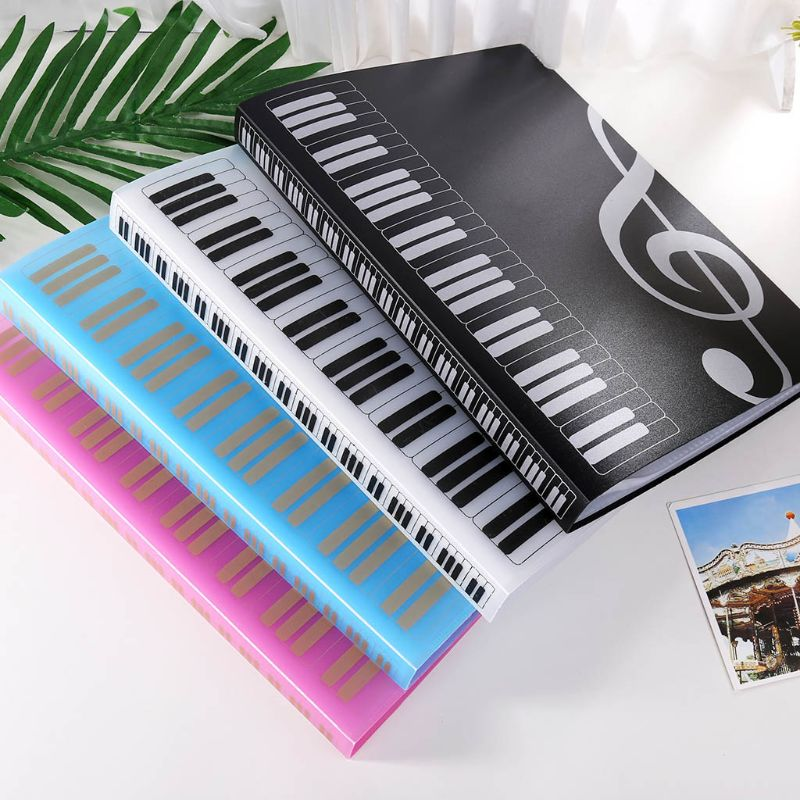 OOTDTY 40 Pages A4 Size Piano Music Score Sheet Document File Folder Storage Organizer