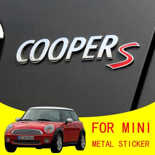 Voor Mini Cooper S R55 R56 R60 R61 F54 F55 F56 F60 Countryman Decoratie Accessoires 3D Metalen Auto Stickers Achter kofferbak Tail Emblem